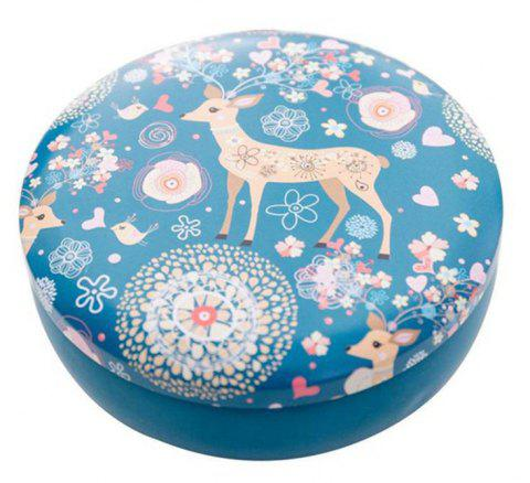 Daily Storage of Debris Small Fresh Candy Creative Flamingo Elk Round Tin Box - ROYAL BLUE
