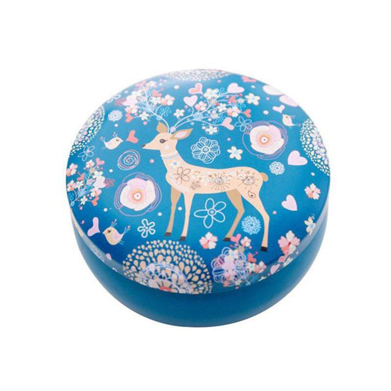 Daily Storage of Debris Small Fresh Candy Creative Flamingo Elk Round Tin Box - BLUE ORCHID