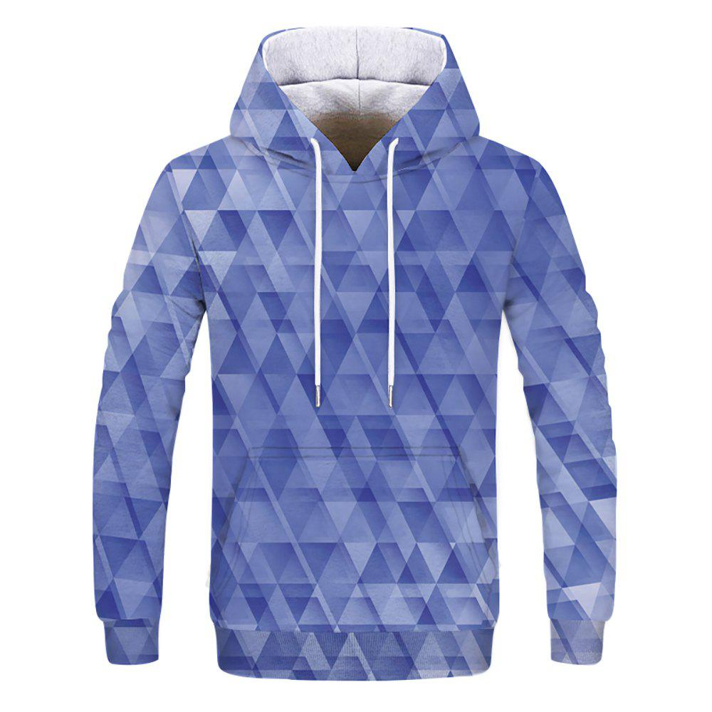 Fashion Geometry Printed Men's Hoodie - multicolor A XS