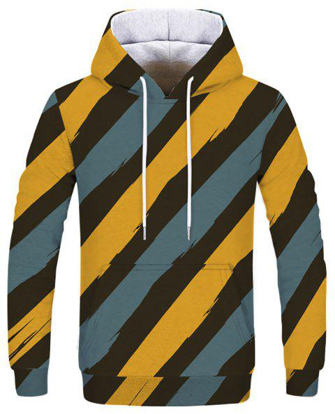 3D Printed Men's Hoodie Sweatshirt - multicolor F 2XL