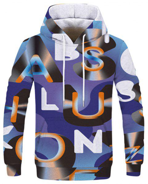 Fashion 3D Camouflage Print Men's Hoodie Sweatshirt - multicolor B 3XL