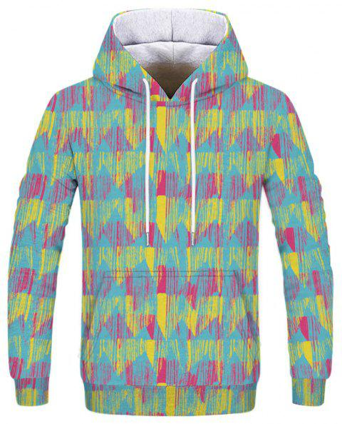 Fashion 3D Camouflage Print Men's Hoodie Sweatshirt - multicolor D XL