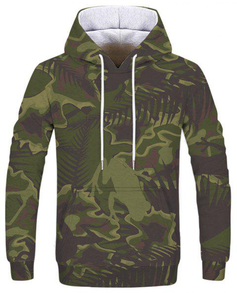Fashion 3D Camouflage Print Men's Hoodie Sweatshirt - multicolor I 3XL