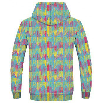 Fashion 3D Camouflage Print Men's Hoodie Sweatshirt - multicolor D XS