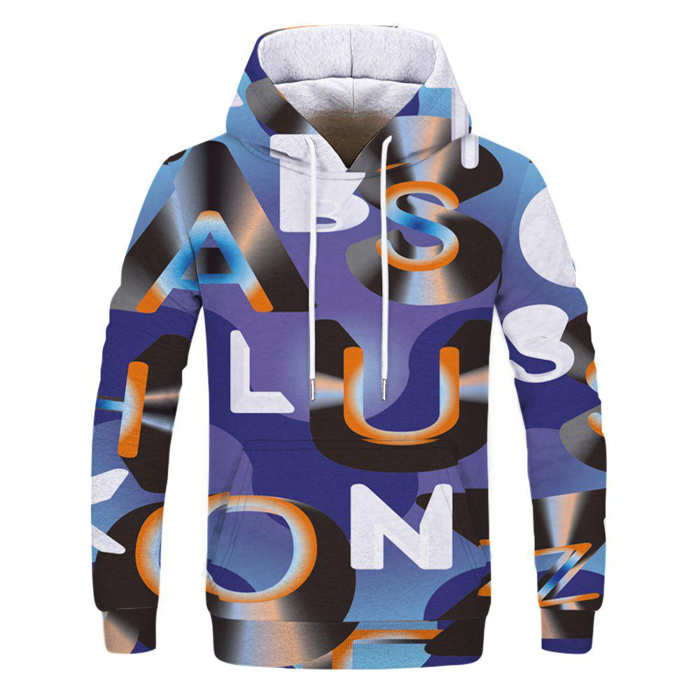 Fashion 3D Camouflage Print Men's Hoodie Sweatshirt - multicolor B 2XL
