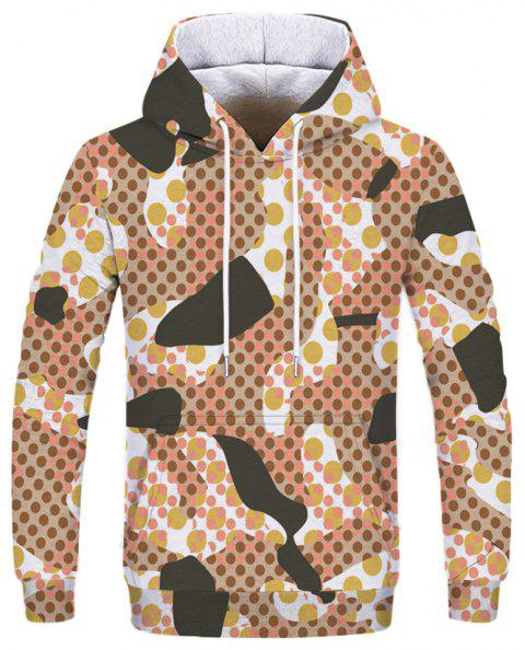 Fashion Personality Desert Camouflage Print Men's Hoodie Sweatshirt - multicolor F XL
