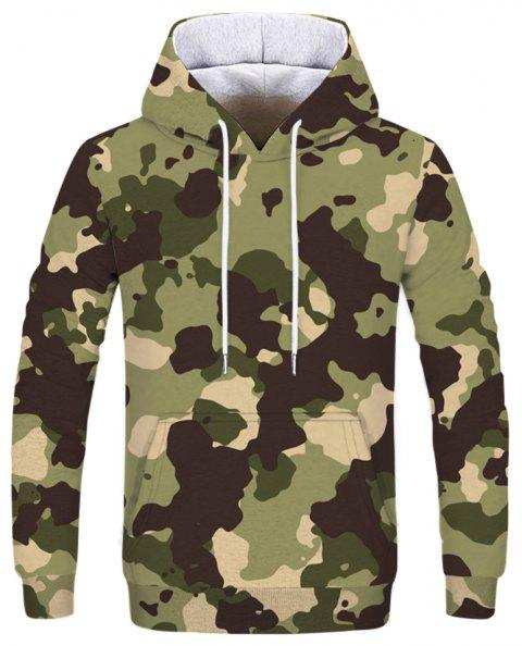 Fashion Personality Desert Camouflage Print Men's Hoodie Sweatshirt - multicolor A XL