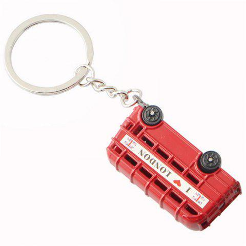 Best Selling Personality Double-decker Bus Car Keychain - multicolor