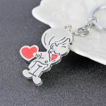 Hot Metal Couple Keychain 2PCS - multicolor