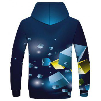 Autumn New Men's Sports 3D Digital Print Patch Pocket Hoodie - LAPIS BLUE XS