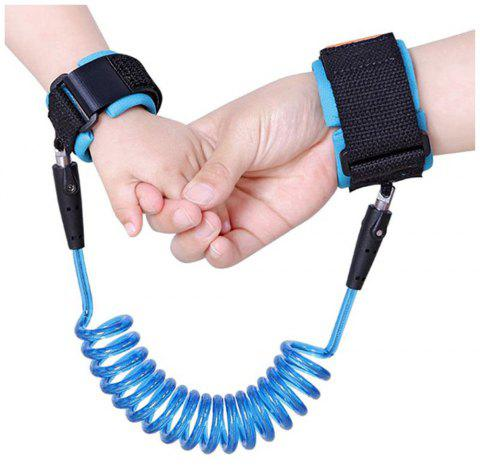 Baby Safety Harness Child Leash Anti Lost Wrist Link Toddler Kids - DEEP SKY BLUE