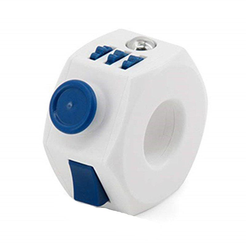 Fidget Magic Finger Ring Cube Desk Toy Anti Stress Children Gifts Game - BLUE DRESS