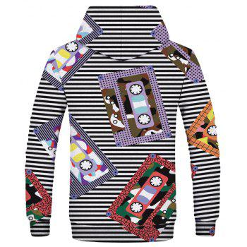 Fashion 3D Printed Casual Hooded Sweatshirt - multicolor 2XL