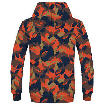 Fashion Camouflage Butterfly Print Sweatshirt - multicolor XS