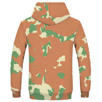 Sweat-shirt imprimé mode camouflage d'hiver - Cassonade XL