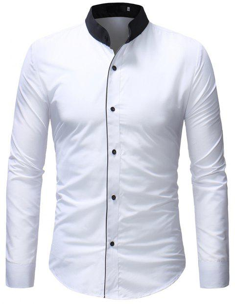 Autumn Classic Men's Casual Long-Sleeved Shirt - WHITE M