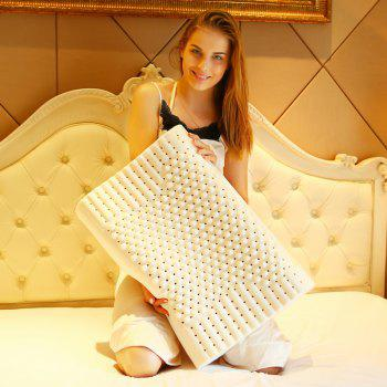 Natural Latex Core Neck Protecting Granule Pillow  Inner And Outer Cover - WHITE 30CM*50CM