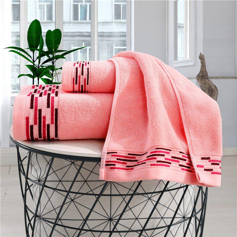 Comfortable Bath Towel For Household Use - BEAN RED 70CM*140CM