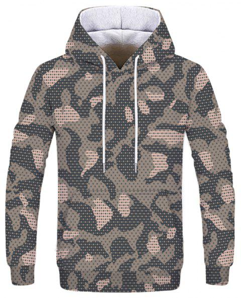 Fashion Printed Men's Camouflage Hoodie - multicolor S