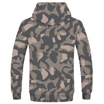 Fashion Printed Men's Camouflage Hoodie - multicolor XS