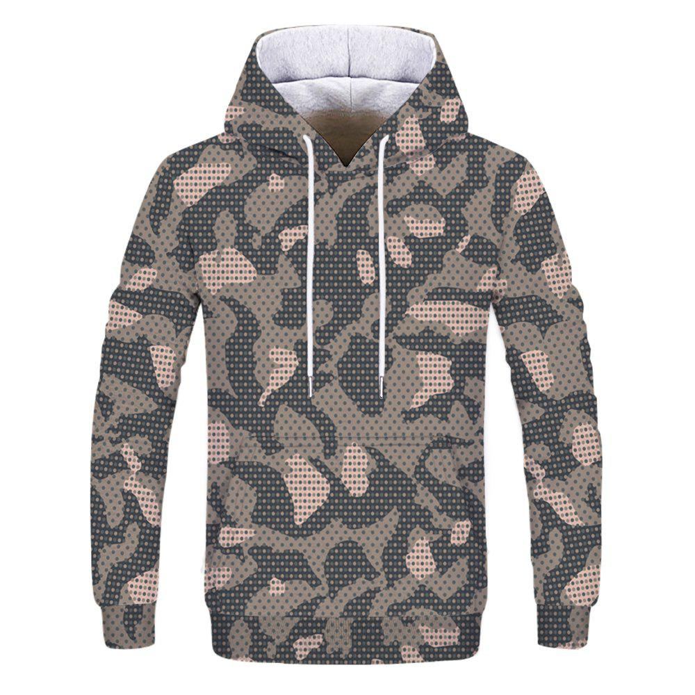 Fashion Printed Men's Camouflage Hoodie - multicolor L