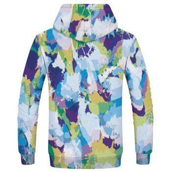 Fashion Men's 3D Printed Camouflage Hoodie - multicolor XL