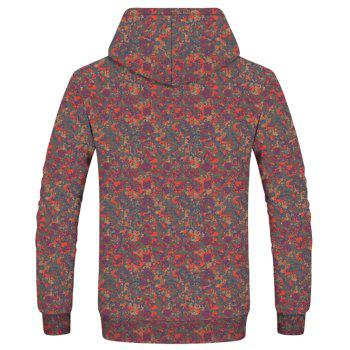 Stylish Men's Forest Camouflage Hoodie - multicolor XL