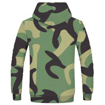 Fashion Men's Camouflage Army Green Hoodie - multicolor M