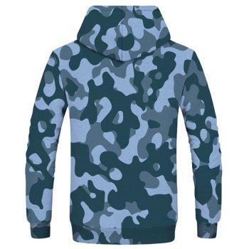 Fashion Camouflage Printed Men's Hoodie - multicolor XL