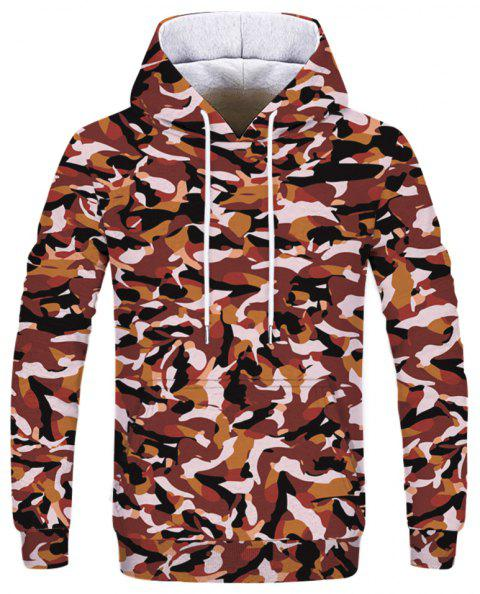 Fashion Men's Printed Camouflage Hoodie - multicolor XS