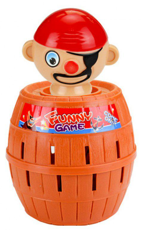 Funny Gadget Pirate Barrel Game for Children Lucky Stab Pop Up Toy - CHOCOLATE