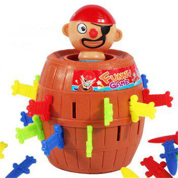 Funny Gadget Pirate Barrel Jeu pour enfants Lucky Stab Pop Up Toy - Chocolat