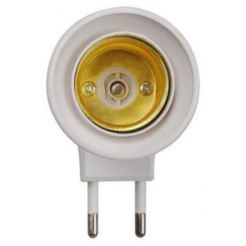 YEDUO E27 Female Socket To EU Plug Adapter/power On-off Control Switch - WHITE