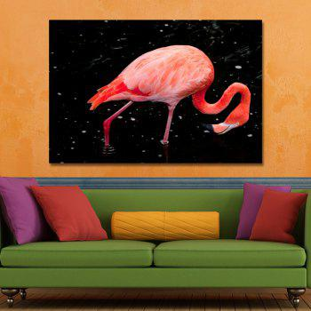 Photography Flamingo in Water Print Art - multicolor