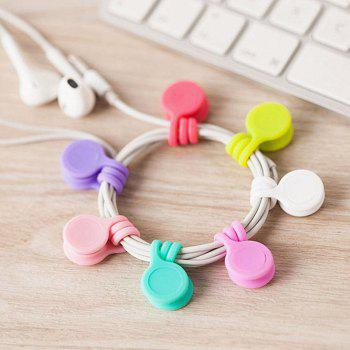 3PCS/PACK New Cute Multifunction Magnet Earphone Cord Winder Holder - multicolor