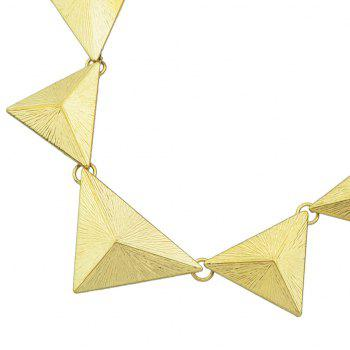 Minimalist Metal Triangle Geometry Chain Short Necklace - GOLD