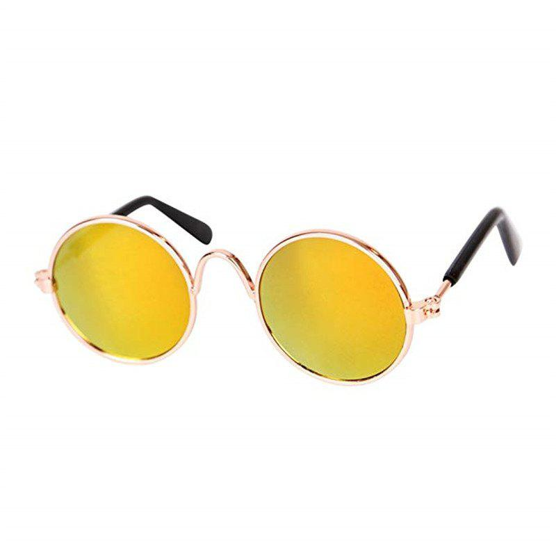 Fashion Glasses Small Pet Dogs Cat Glasses Sunglasses Eye-Wear Protection - YELLOW