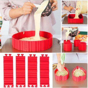 Nonstick 4Pcs Silicone Cake Mold Magic Bake Snakes Diy Cake Mould Baking Tools - RED