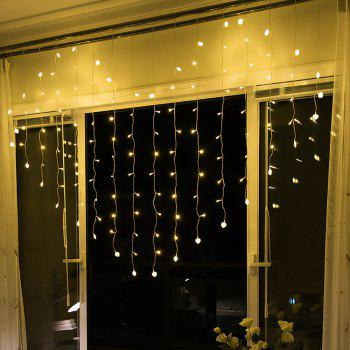 Heart Icicle LED Window Curtain String Lights for Wedding Valentine Party - WARM WHITE