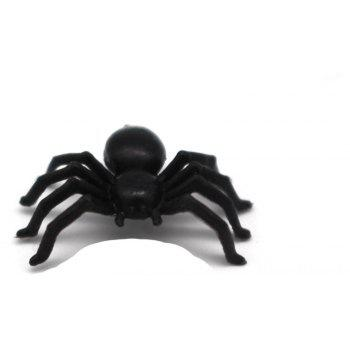 50pcs Black Small Spiders Trick Toy Halloween Party Haunted House Decoration - BLACK
