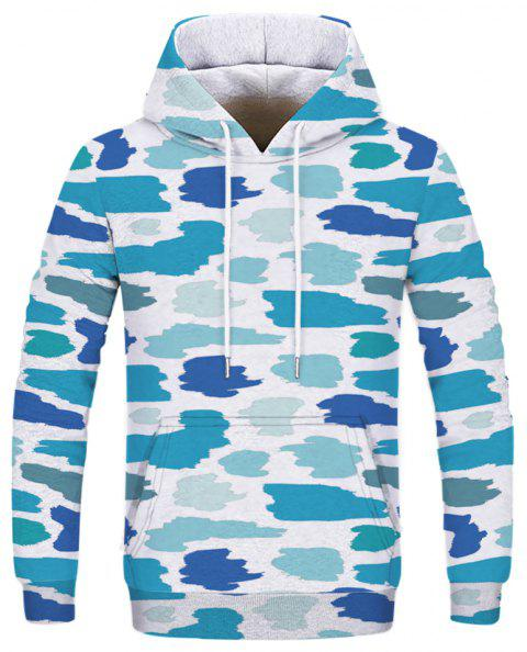 Fashion Camouflage Printed Hoodie - multicolor S