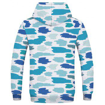 Fashion Camouflage Printed Hoodie - multicolor L