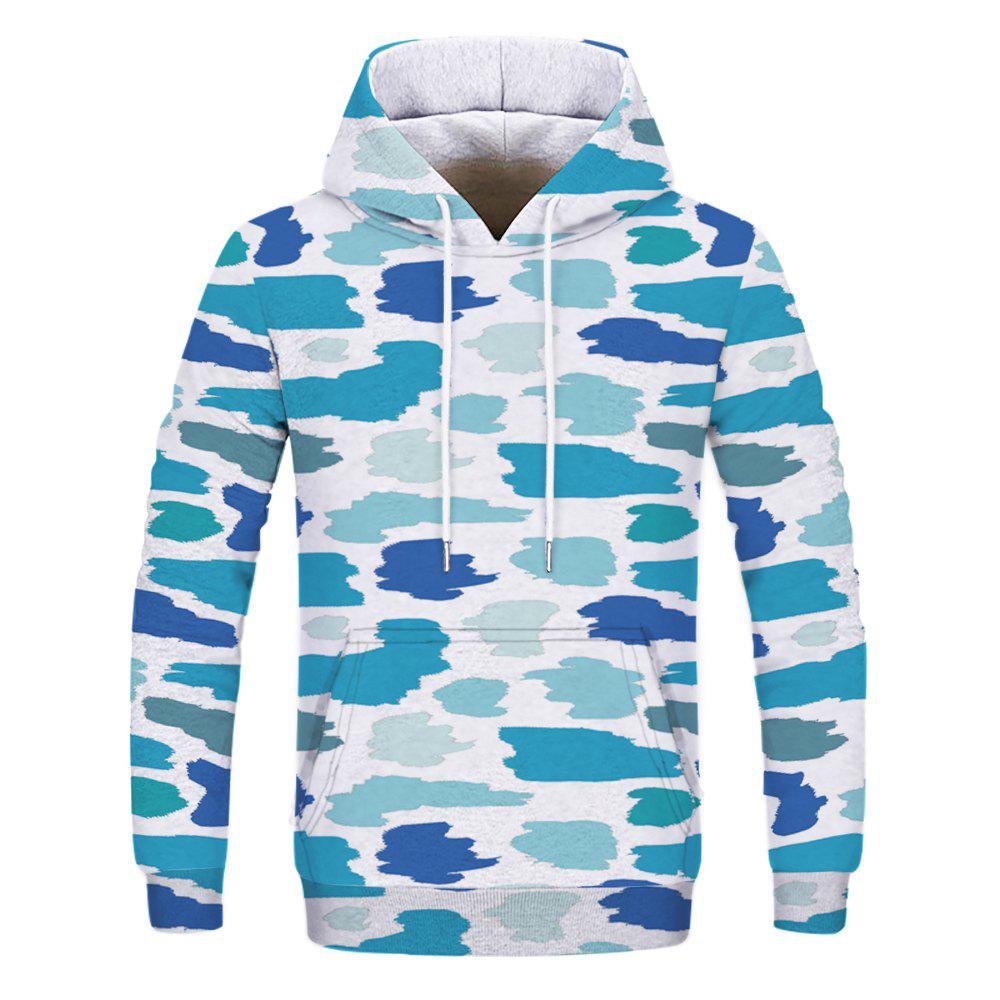 Fashion Camouflage Printed Hoodie - multicolor 3XL
