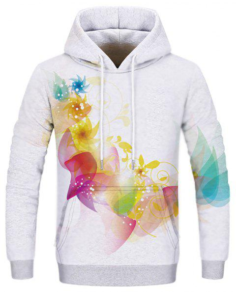 Fashion Men's Print Colorful Figure Hoodie - multicolor M