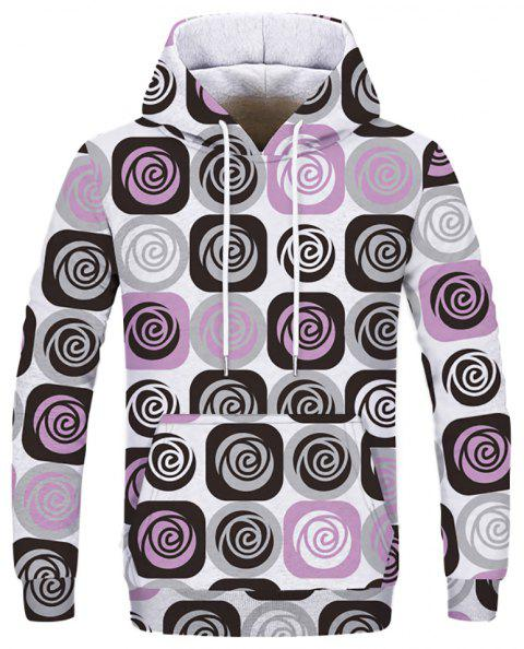 Fashion Men's Digital Print Hoodie - multicolor 3XL