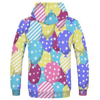 Fashion Men's Printed Dot Five-Pointed Star Figure Hoodie - multicolor XS