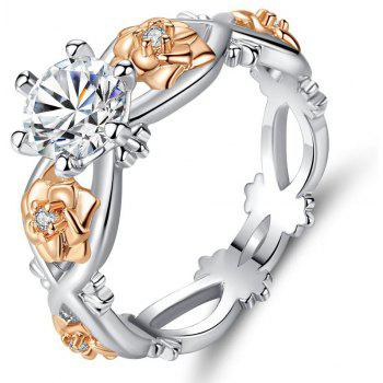 Fashion Personality Rose Flower Combination Set Ring - SILVER US SIZE 10