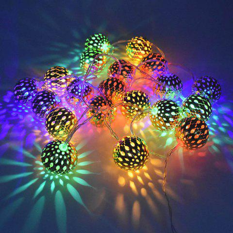 LED String LED Lights Christmas Tree Decoration Moroccan String - SILVER BATTERY BOX 3 METERS 20 LIGHTS COLORFUL EFFECT