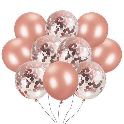 10PCS Rose Gold Confetti Balloons Great for Wedding Decorations Birthday Party - multicolor A