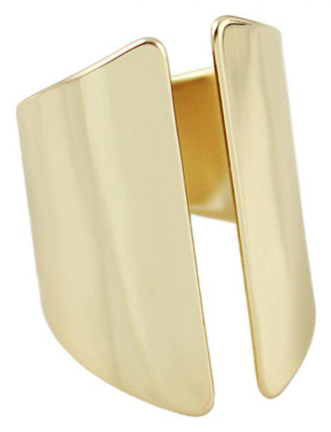 Minimalist Metal Open Cuff Finger Ring for Women - GOLD ONE-SIZE